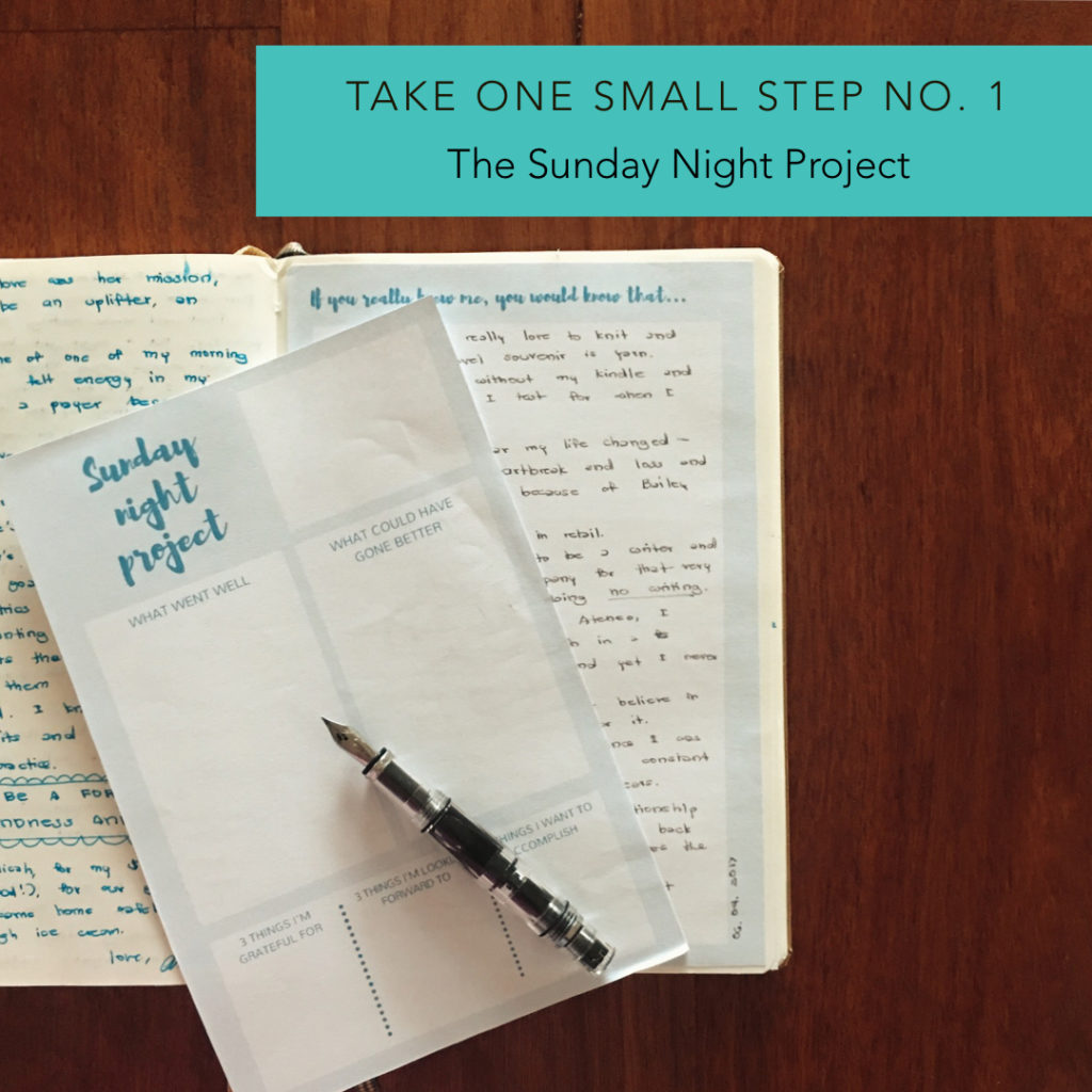 The Sunday Night Project #journaling #journal